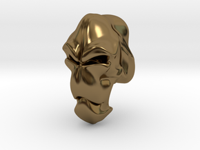 Skull-004 scale in 3cm Passed in Polished Bronze