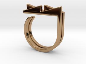 Adjustable ring. Basic set 3. in Polished Brass