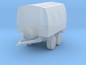Military trailer tarped. in Smooth Fine Detail Plastic