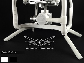 2.0 inch DJI Phantom 3 Gimbal Guard / Leg Extender in White Natural Versatile Plastic