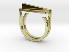Adjustable ring. Basic set 5. in 18k Gold Plated Brass