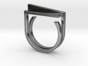 Adjustable ring. Basic set 5. in Fine Detail Polished Silver