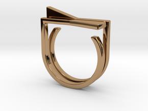 Adjustable ring. Basic set 8. in Polished Brass