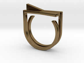 Adjustable ring. Basic set 8. in Polished Bronze