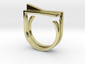 Adjustable ring. Basic set 8. in 18k Gold Plated Brass