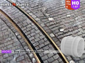 Row paving with border (H0e 1:87) in Smooth Fine Detail Plastic