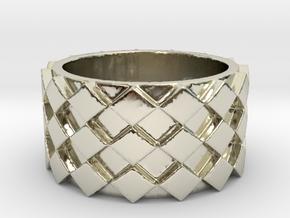 Futuristic Diamond Ring Size 5 in 14k White Gold