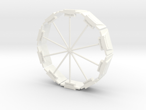 DIN Plaat 1op50 Cirkel in White Strong & Flexible Polished