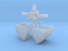 Baggergreiffer Mit Innenliegener Hydrauklik in Smooth Fine Detail Plastic