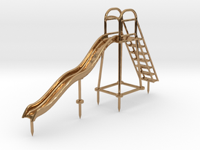 Children's Wave Slide, HO Scale (1:87) in Polished Brass