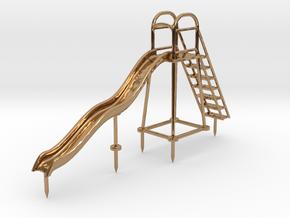 Children's Wave Slide, HO Scale (1:87) in Polished Brass