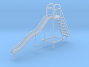 Children's Wave Slide, HO Scale (1:87) in Smooth Fine Detail Plastic