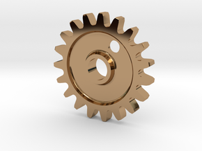 Cog Gear Key Chain / Pendant in Polished Brass