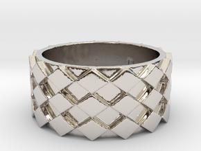 Futuristic Diamond Ring Size 8 in Platinum