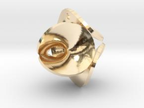 Enneper Earring / Pendant in 14k Gold Plated Brass