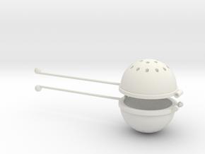 Hot Tea Infuser/Strainer in White Natural Versatile Plastic