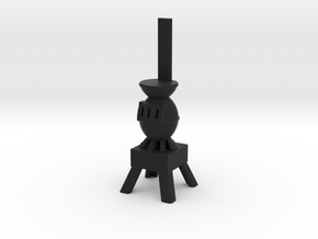 Potbelly Stove - HO 87:1 Scale in Black Natural Versatile Plastic