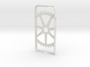 Iphone 6 Case- Cog pattern in White Natural Versatile Plastic