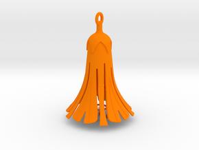 Blossom Pendant in Orange Processed Versatile Plastic