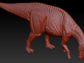 1/40 Parasaurolophus - Grazing in White Natural Versatile Plastic
