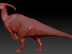 1/72 Parasaurolophus - Standing Hoot in White Natural Versatile Plastic