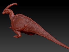 1/72 Parasaurolophus - Prone in White Natural Versatile Plastic