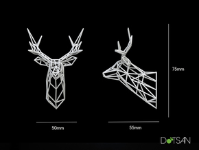 Dolls House Stag Deer Trophy Head Small facing for in White Natural Versatile Plastic