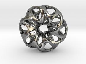 Summer Flower Pendent in Fine Detail Polished Silver