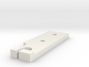 Base Plate in White Natural Versatile Plastic