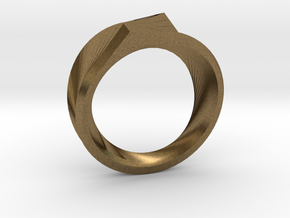 Qortex Ring in Natural Bronze: 8 / 56.75