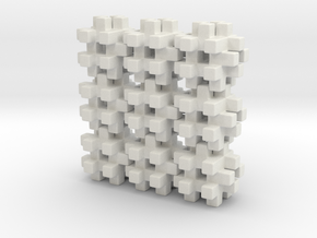 Buildblocks Variant 3v6 in White Natural Versatile Plastic