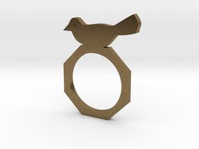 Sweet Bird Ring in Natural Bronze