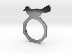 Sweet Bird Ring in Fine Detail Polished Silver