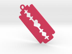 Blade Heart Pendant in Pink Processed Versatile Plastic
