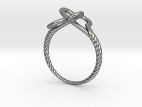 Locked Love Ring in Natural Silver