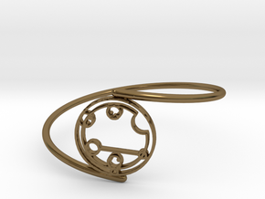 Caitlyn / Kaitlyn - Bracelet Thin Spiral in Polished Bronze