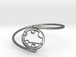 Caitlyn / Kaitlyn - Bracelet Thin Spiral in Polished Silver
