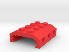 Building Block Picatinny Adapter in Red Processed Versatile Plastic