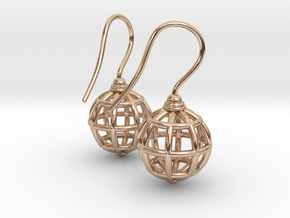 The2LittleGlobes in 14k Rose Gold Plated Brass