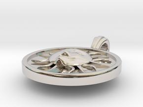 Pendente Ciondolo del Quartiere di Santa Maria Nov in Rhodium Plated Brass