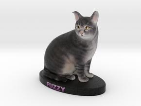 Custom Cat Figurine - Fuzzy in Full Color Sandstone
