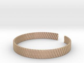 Weave Bangle (Medium) in 14k Rose Gold Plated Brass