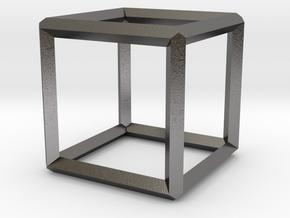 Cube(Leonardo-style model) in Polished Nickel Steel