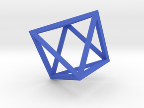 Octahedron(Leonardo-style model) in Blue Processed Versatile Plastic