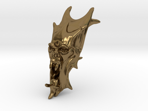 Skull-025 scale in 3cm Passed in Polished Bronze