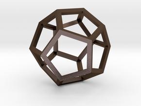 Dodecahedron(Leonardo-style model) in Polished Bronze Steel