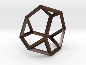 Truncated Tetrahedron(Leonardo-style model) in Polished Bronze Steel