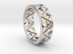 Triforce Ring Size 11 in Rhodium Plated Brass
