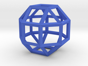 Rhombicuboctahedron(Leonardo-style model) in Blue Processed Versatile Plastic