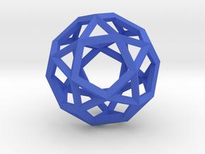 Icosi Dodecahedron(Leonardo-style model) in Blue Processed Versatile Plastic